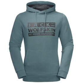 Jack Wolfskin Brand Hoody Men, north atlantic